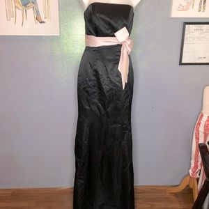 ALEXIA II BLACK & PINK STRAIGHT FORMAL DRESS